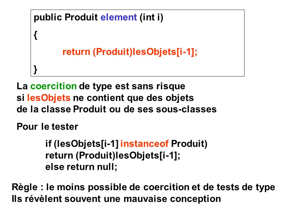 public Produit element (int i)