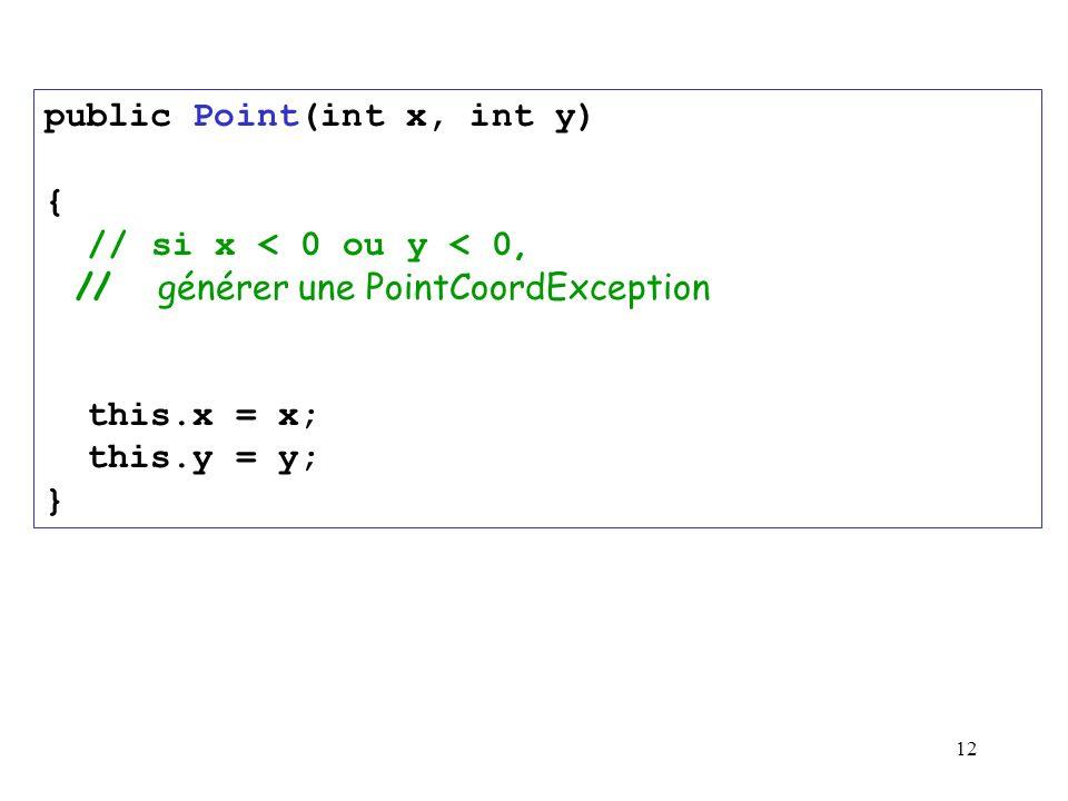 public Point(int x, int y)