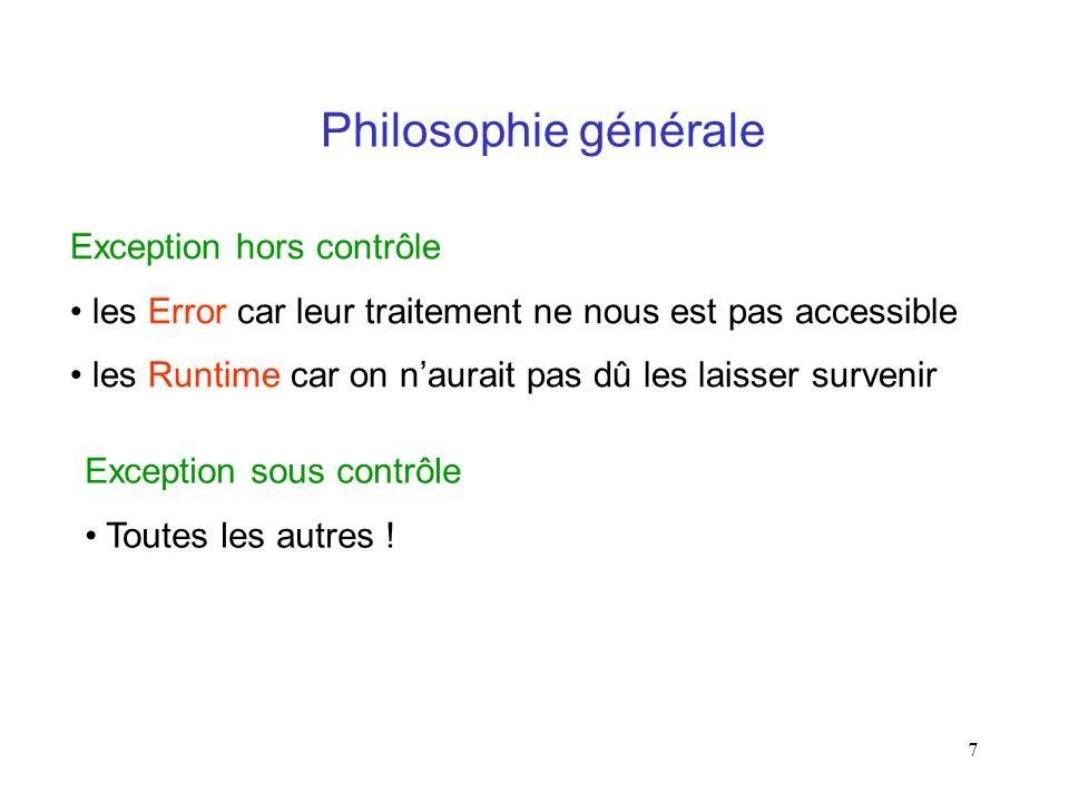Philosophie générale Exception hors contrôle