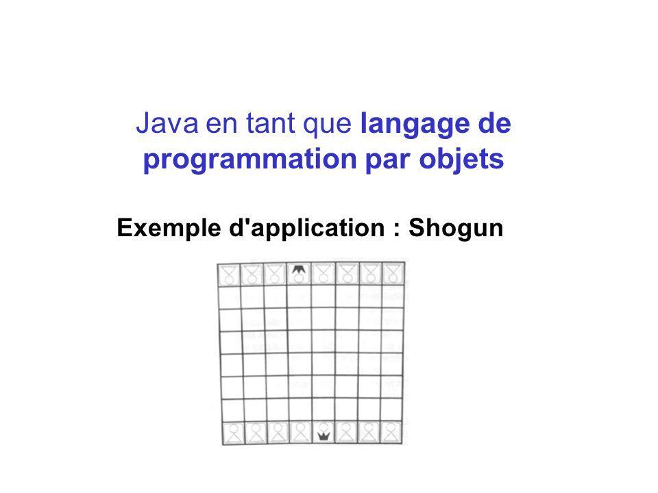Java en tant que langage de programmation par objets