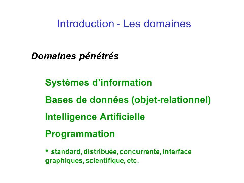 Introduction - Les domaines