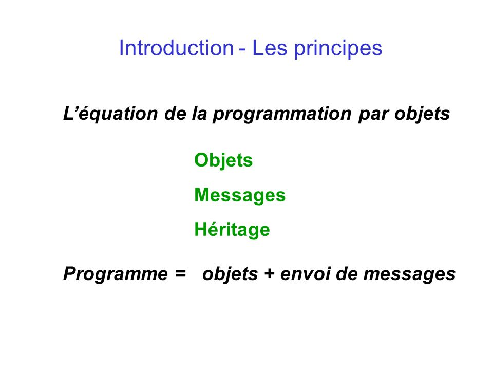 Introduction - Les principes