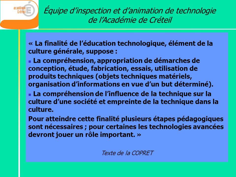 Équipe d'inspection et d'animation de technologie de l'Académie de Créteil