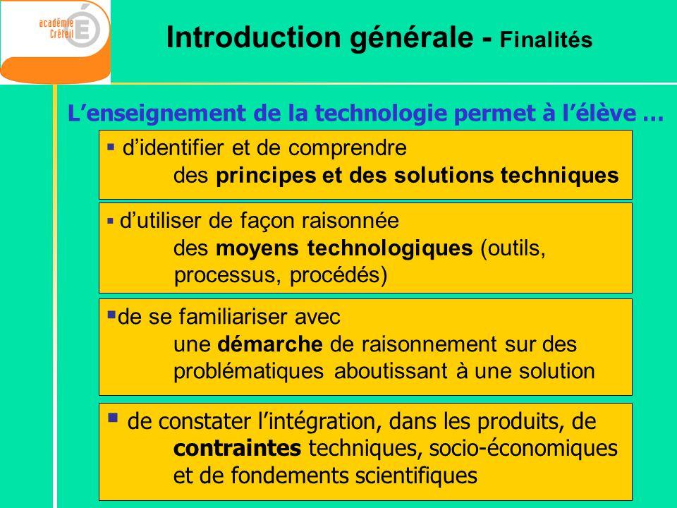 Introduction générale - Finalités