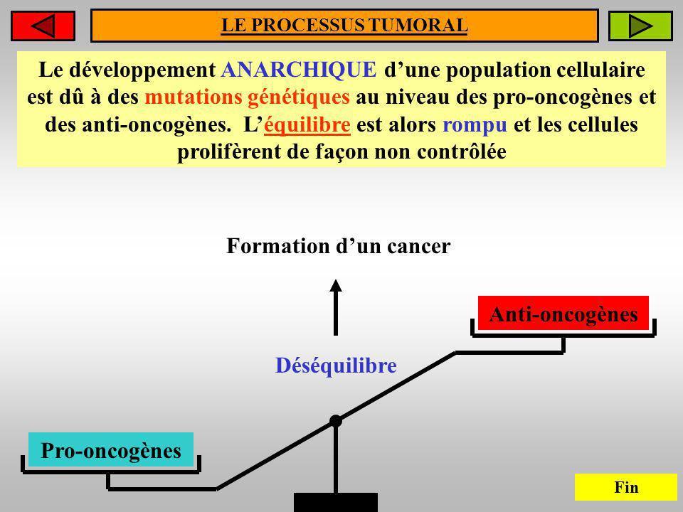 LE PROCESSUS TUMORAL