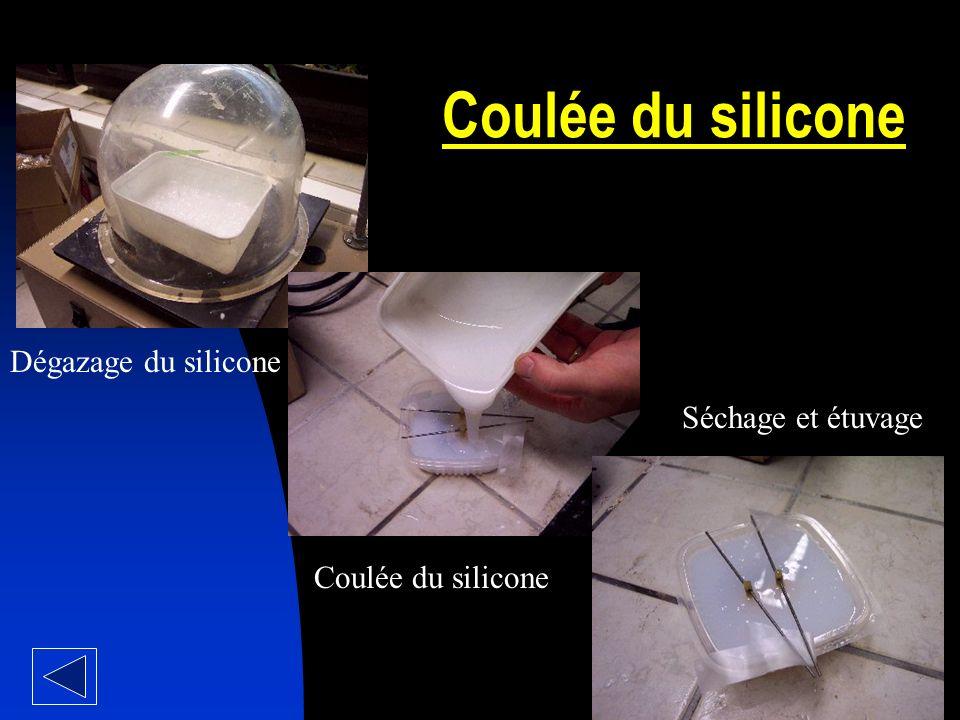 Coulée du silicone Dégazage du silicone Séchage et étuvage