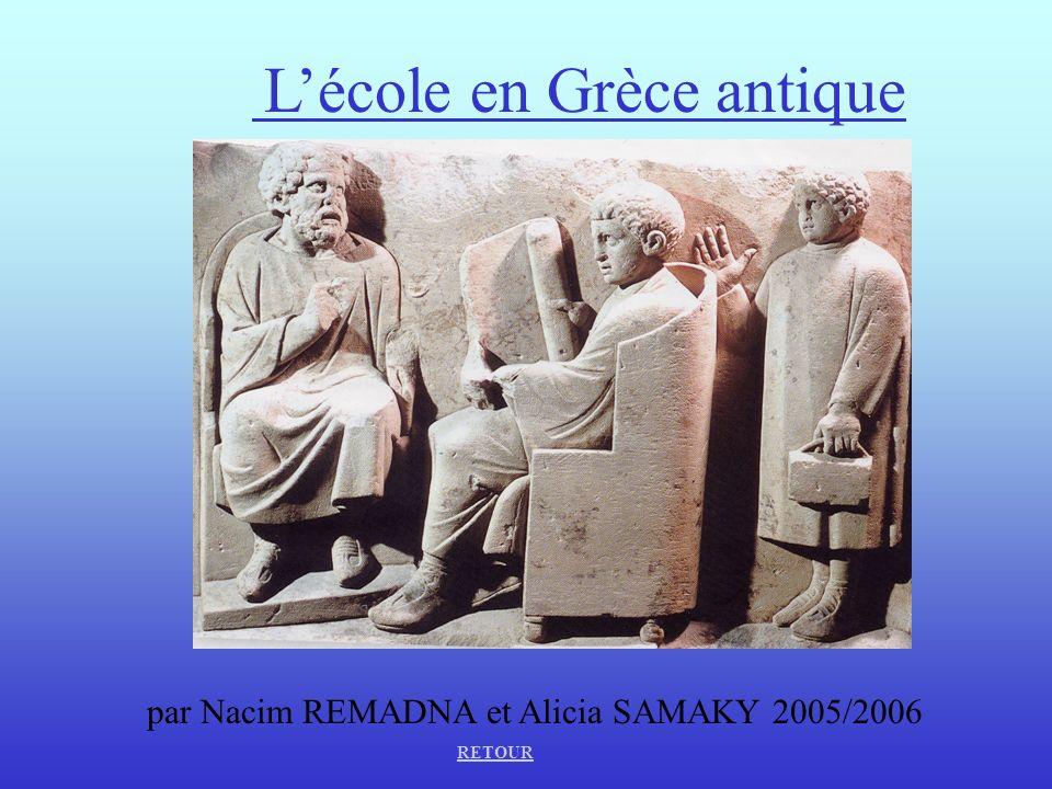 L'école en Grèce antique