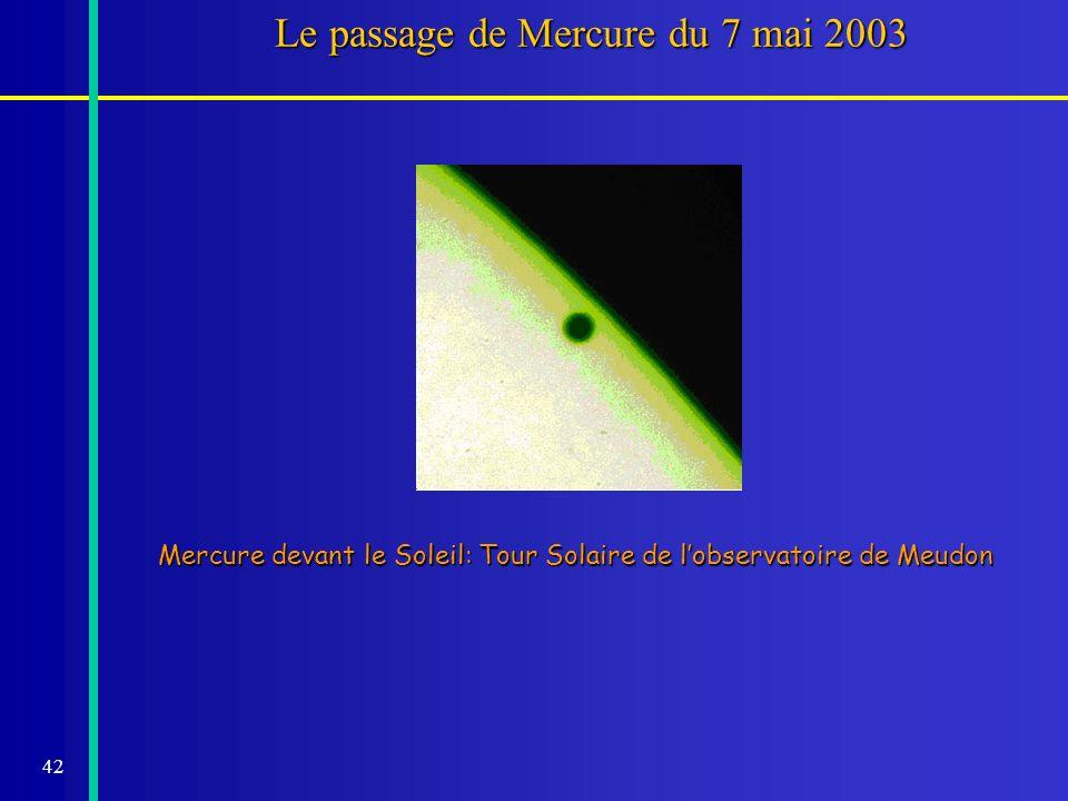 Le passage de Mercure du 7 mai 2003
