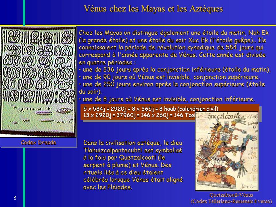 Vénus chez les Mayas et les Aztèques