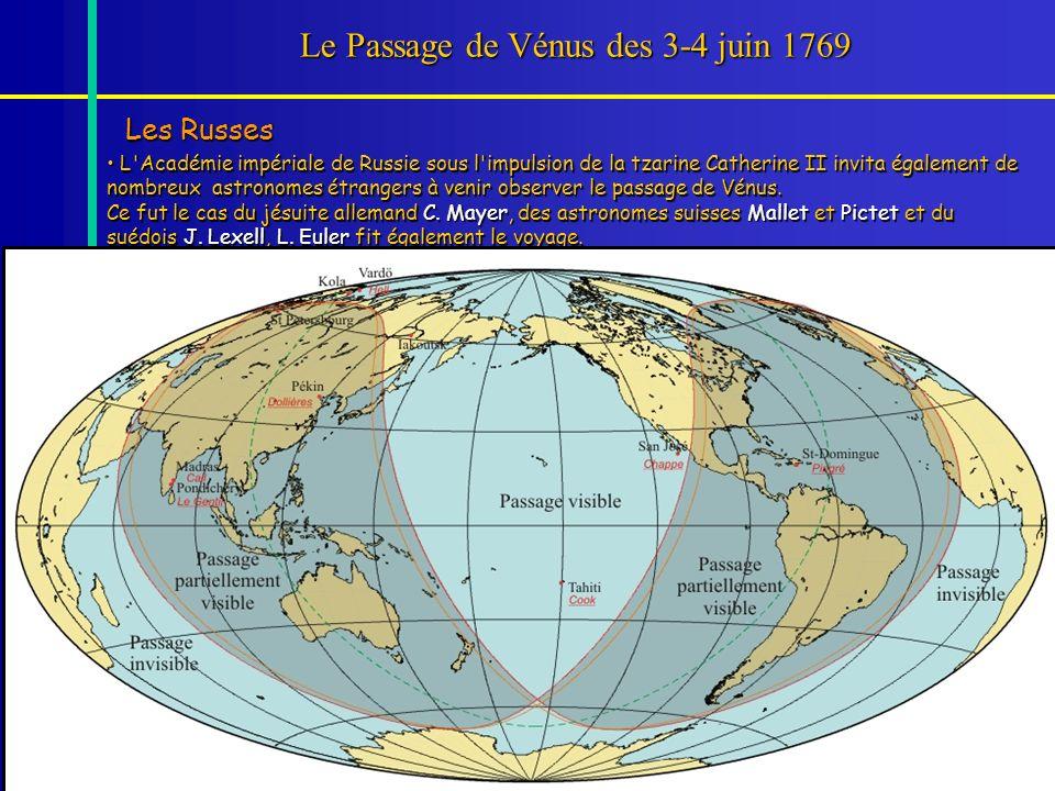 Le Passage de Vénus des 3-4 juin 1769