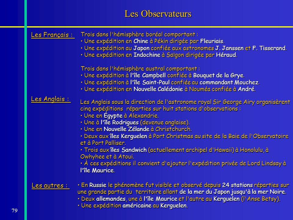 Les Observateurs Les Français : Les Anglais : Les autres :