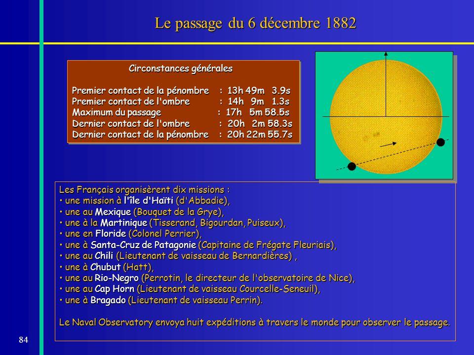 Le passage du 6 décembre 1882 Circonstances générales