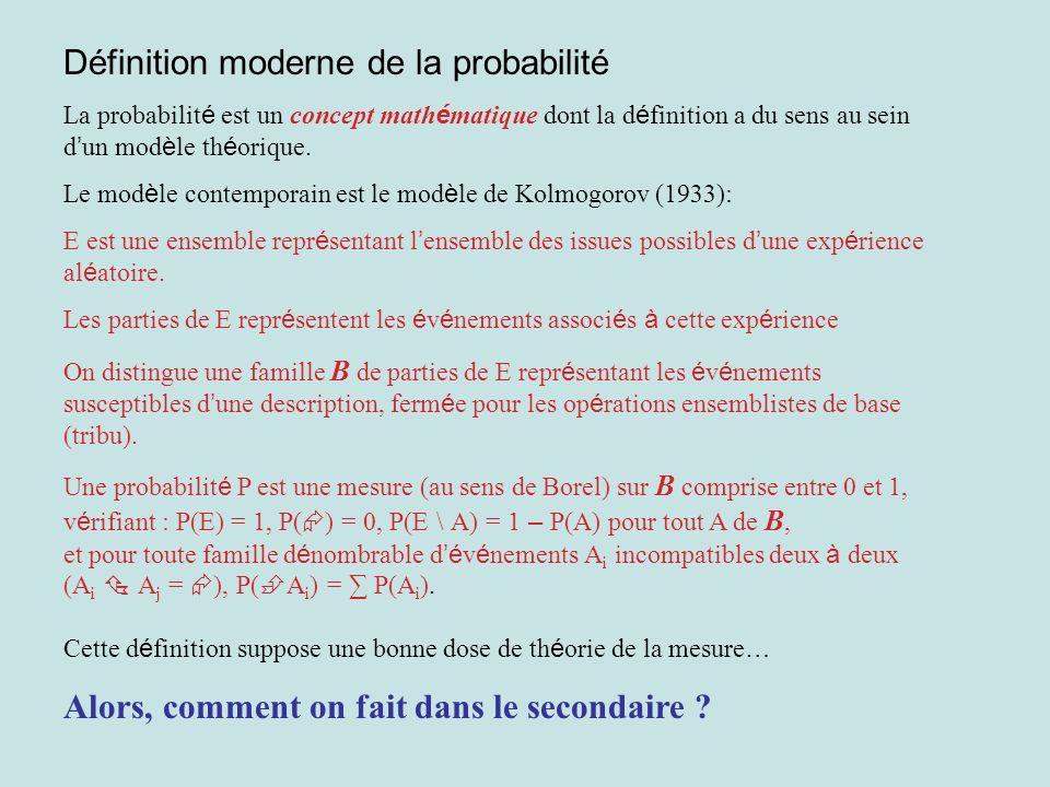 Définition moderne de la probabilité