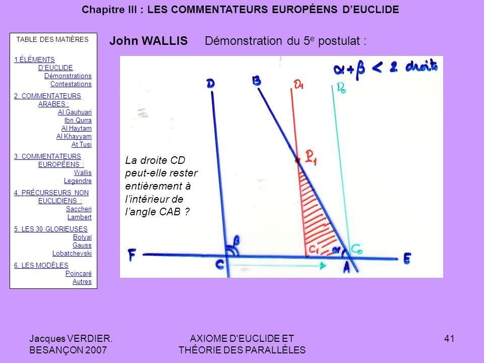 Chapitre III : LES COMMENTATEURS EUROPÉENS D'EUCLIDE