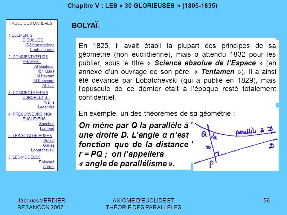 Chapitre V : LES « 30 GLORIEUSES » (1805-1835)