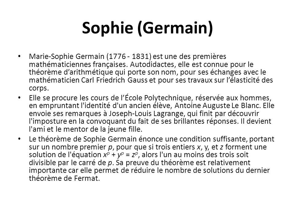 Sophie (Germain)