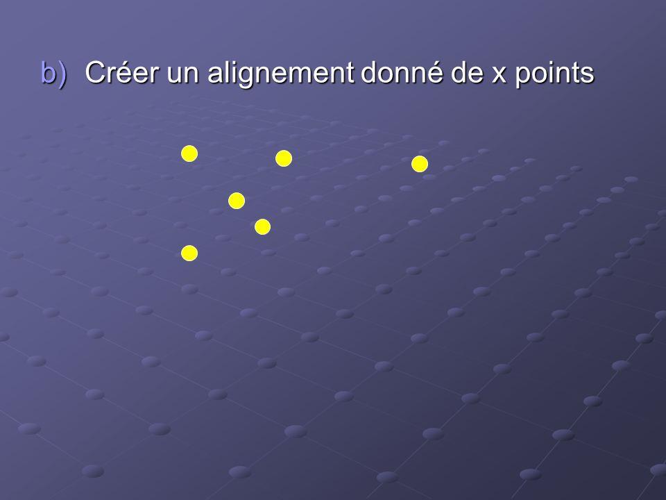 Créer un alignement donné de x points
