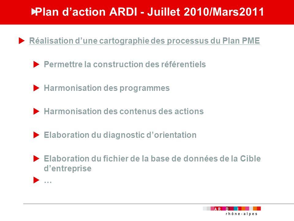 Plan d'action ARDI - Juillet 2010/Mars2011