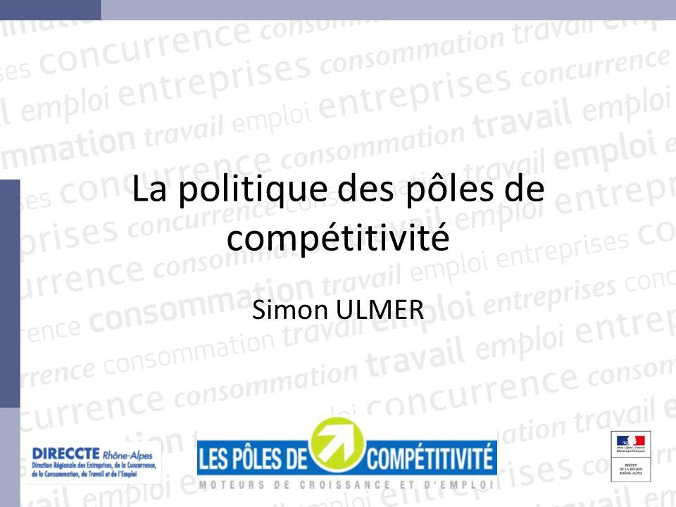 La politique des pôles de compétitivité