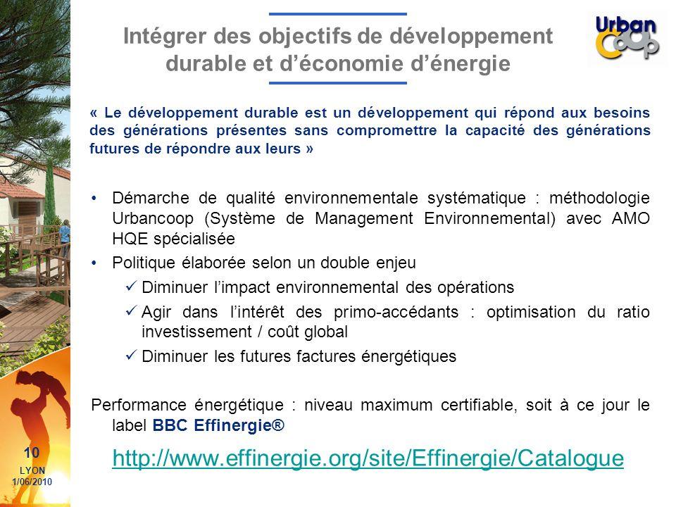 Intégrer des objectifs de développement durable et d'économie d'énergie