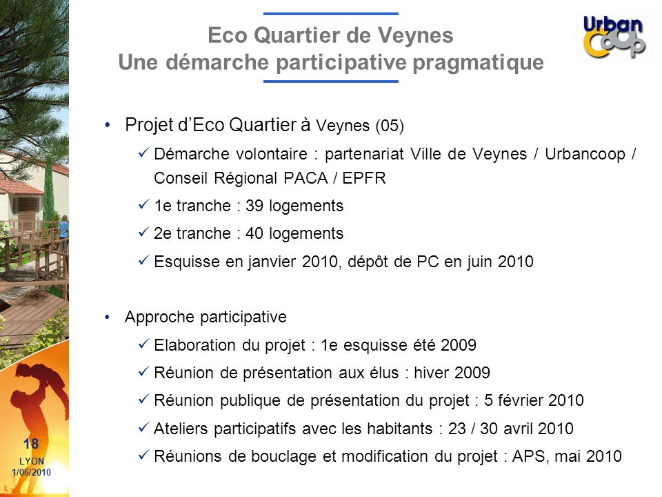 Eco Quartier de Veynes Une démarche participative pragmatique