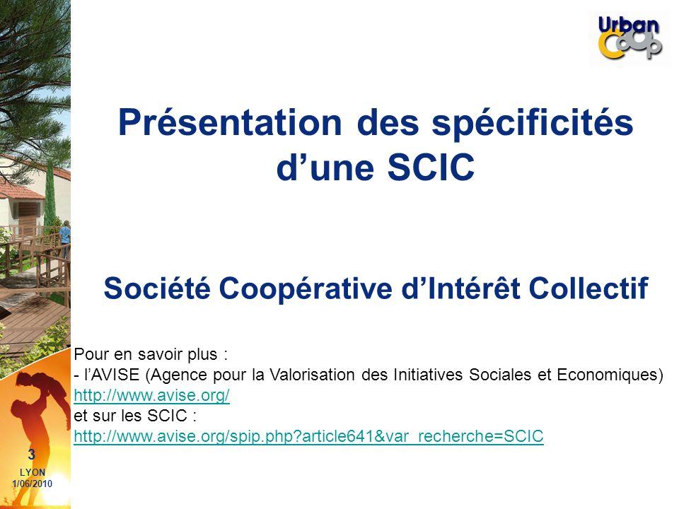 Présentation des spécificités d'une SCIC