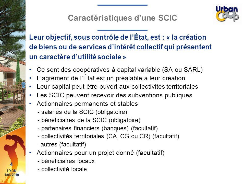 Caractéristiques d'une SCIC