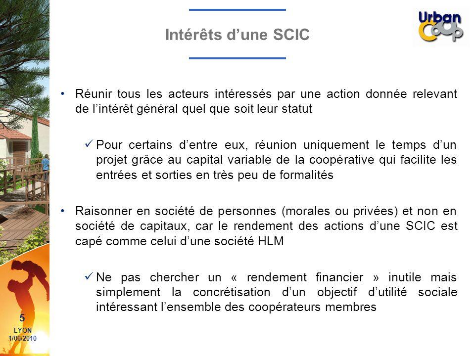 Intérêts d'une SCIC Réunir tous les acteurs intéressés par une action donnée relevant de l'intérêt général quel que soit leur statut.