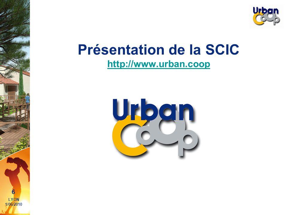 Présentation de la SCIC http://www.urban.coop