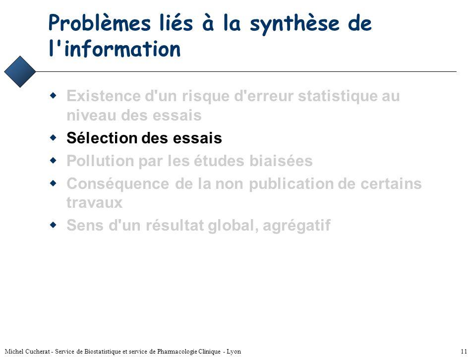 Problèmes liés à la synthèse de l information