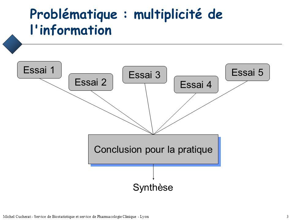 Problématique : multiplicité de l information