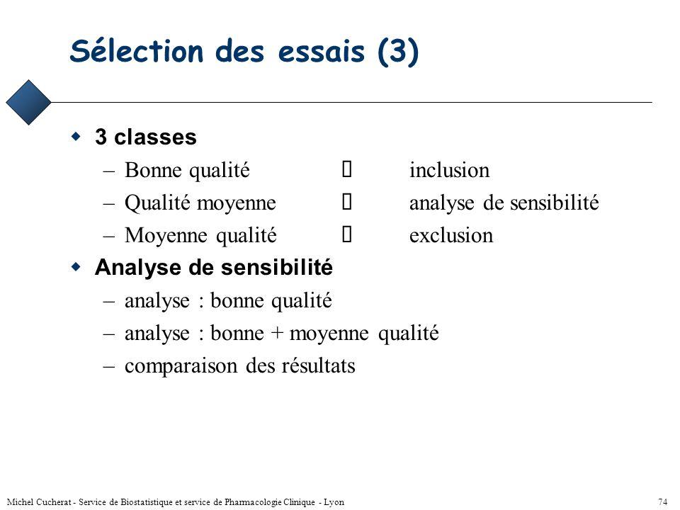 Sélection des essais (3)