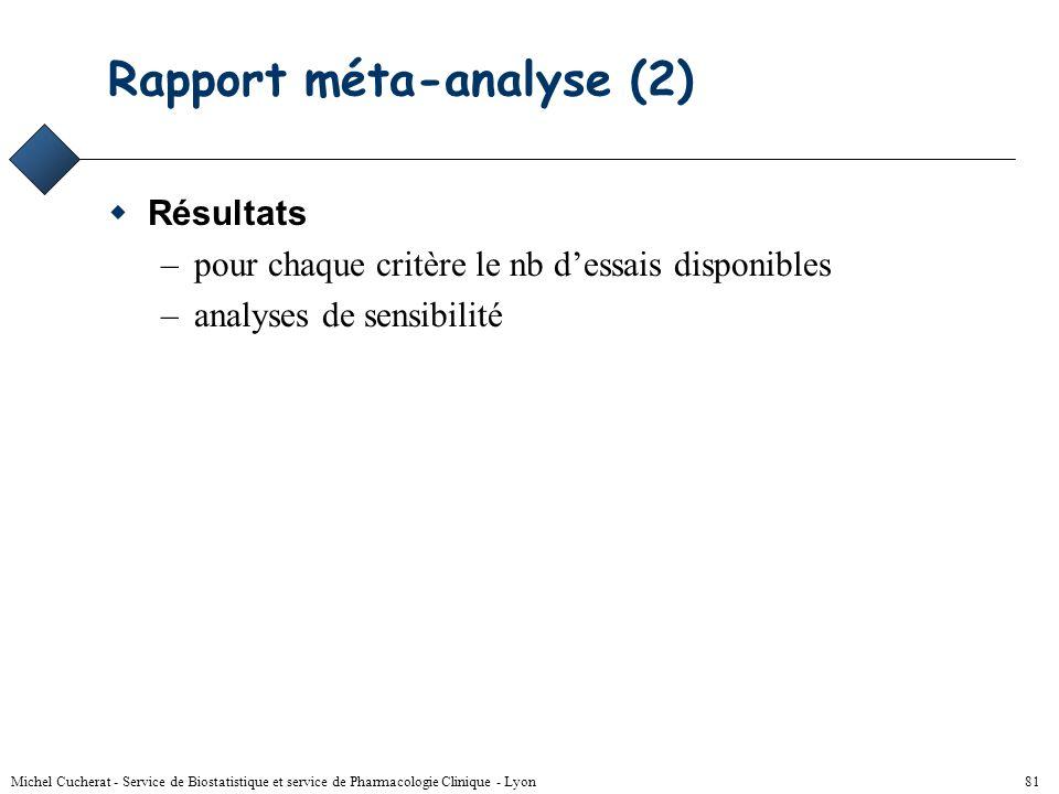 Rapport méta-analyse (2)