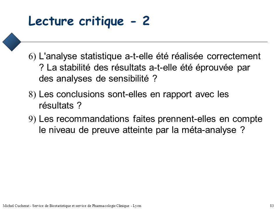 Lecture critique - 2