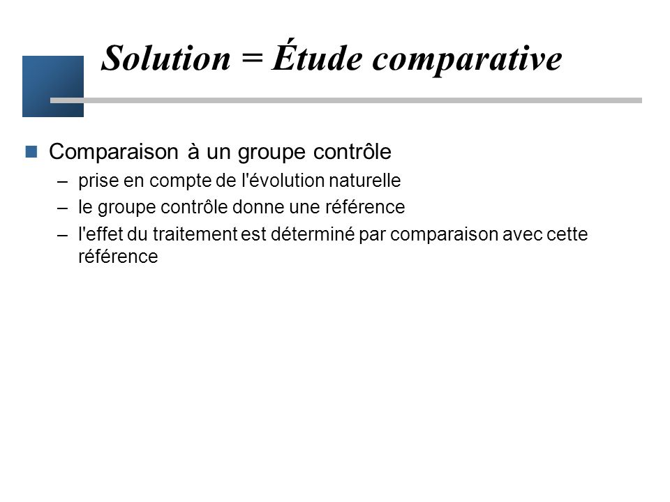 Solution = Étude comparative