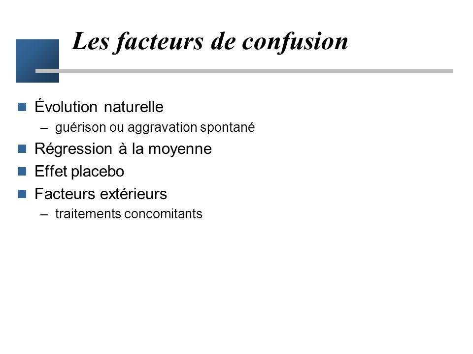 Les facteurs de confusion