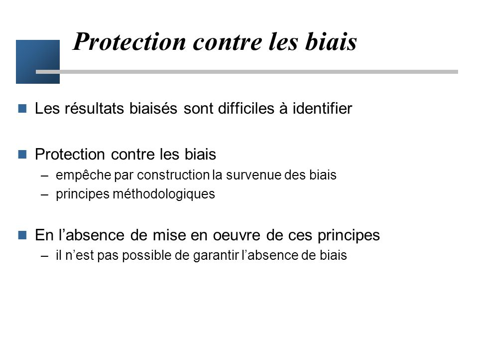 Protection contre les biais