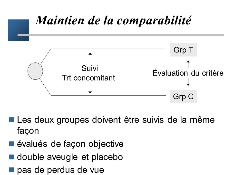 Maintien de la comparabilité