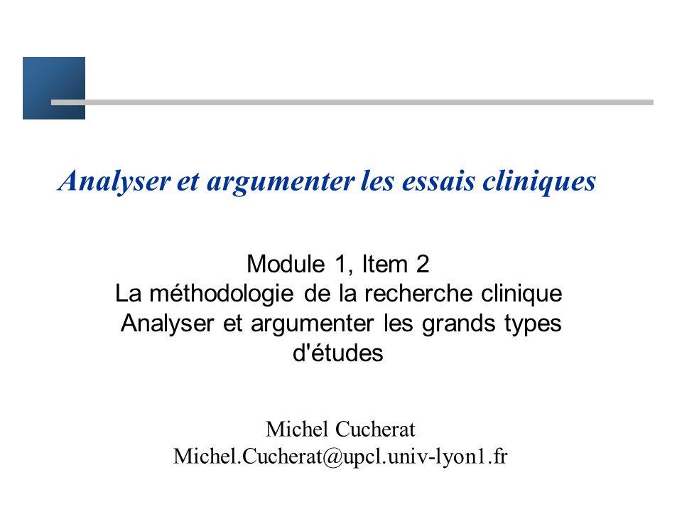 Analyser et argumenter les essais cliniques