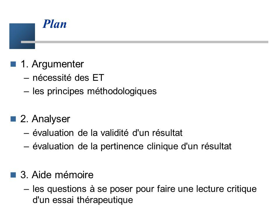 Plan 1. Argumenter 2. Analyser 3. Aide mémoire nécessité des ET