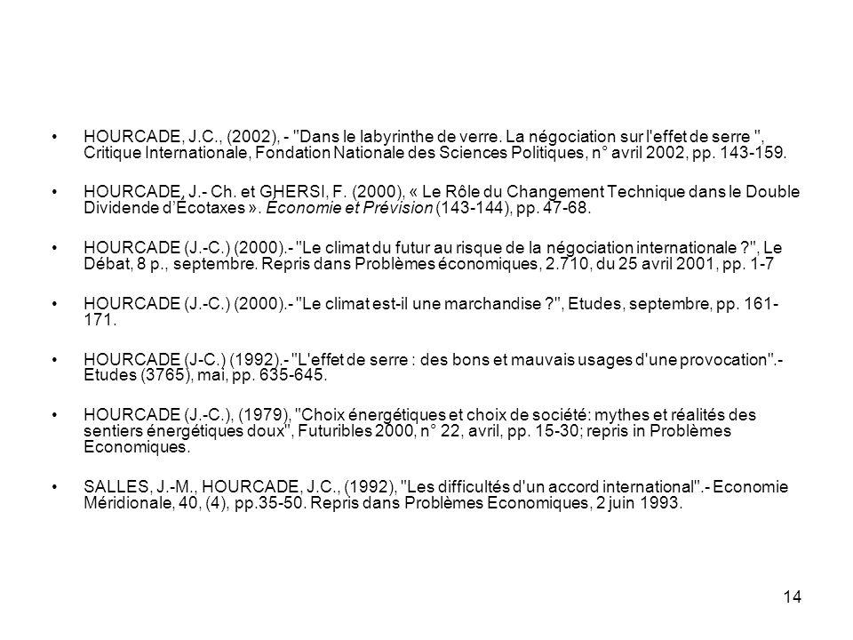 HOURCADE, J. C. , (2002), - Dans le labyrinthe de verre