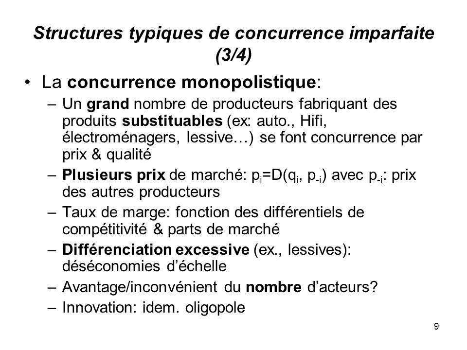 Structures typiques de concurrence imparfaite (3/4)
