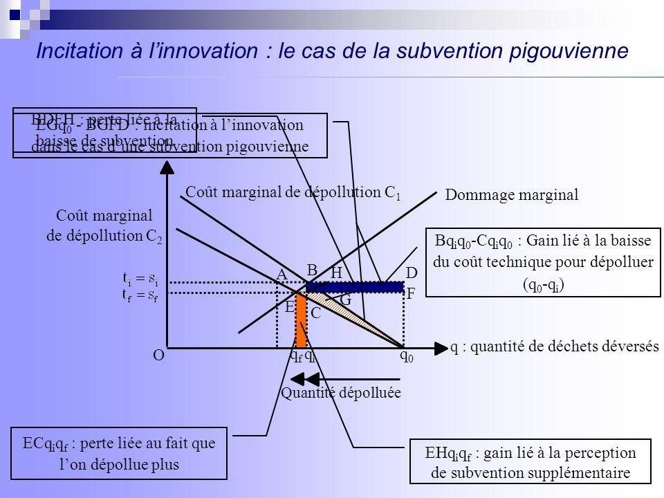 Incitation à l'innovation : le cas de la subvention pigouvienne