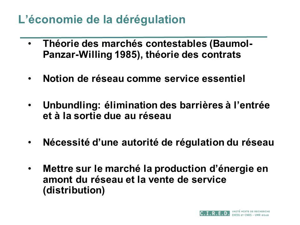 L'économie de la dérégulation