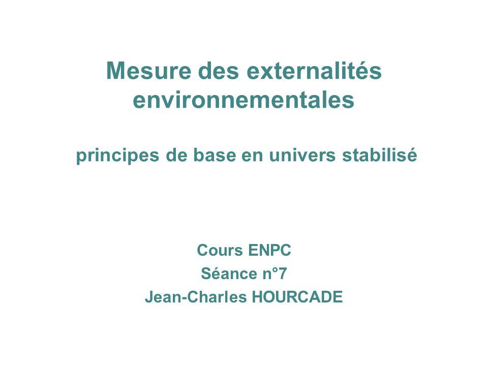 Cours ENPC Séance n°7 Jean-Charles HOURCADE