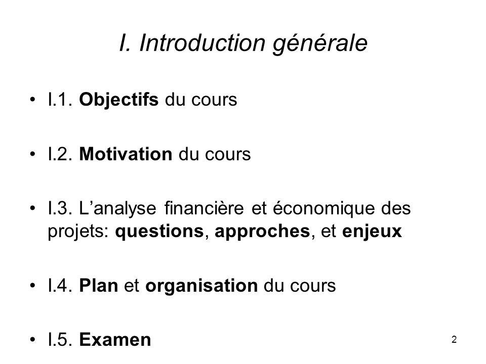I. Introduction générale