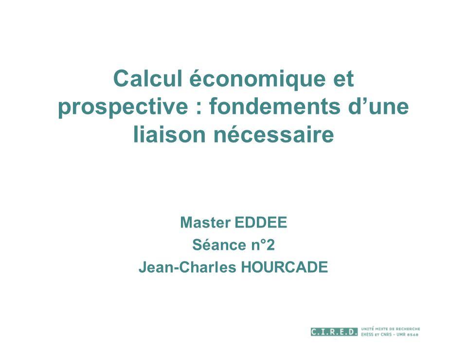 Calcul économique et prospective : fondements d'une liaison nécessaire