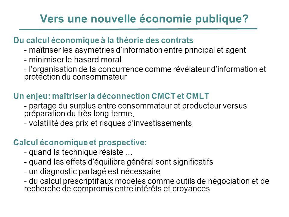 Vers une nouvelle économie publique