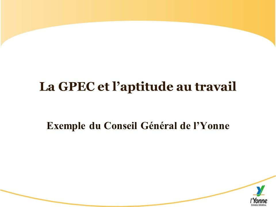 La GPEC et l'aptitude au travail