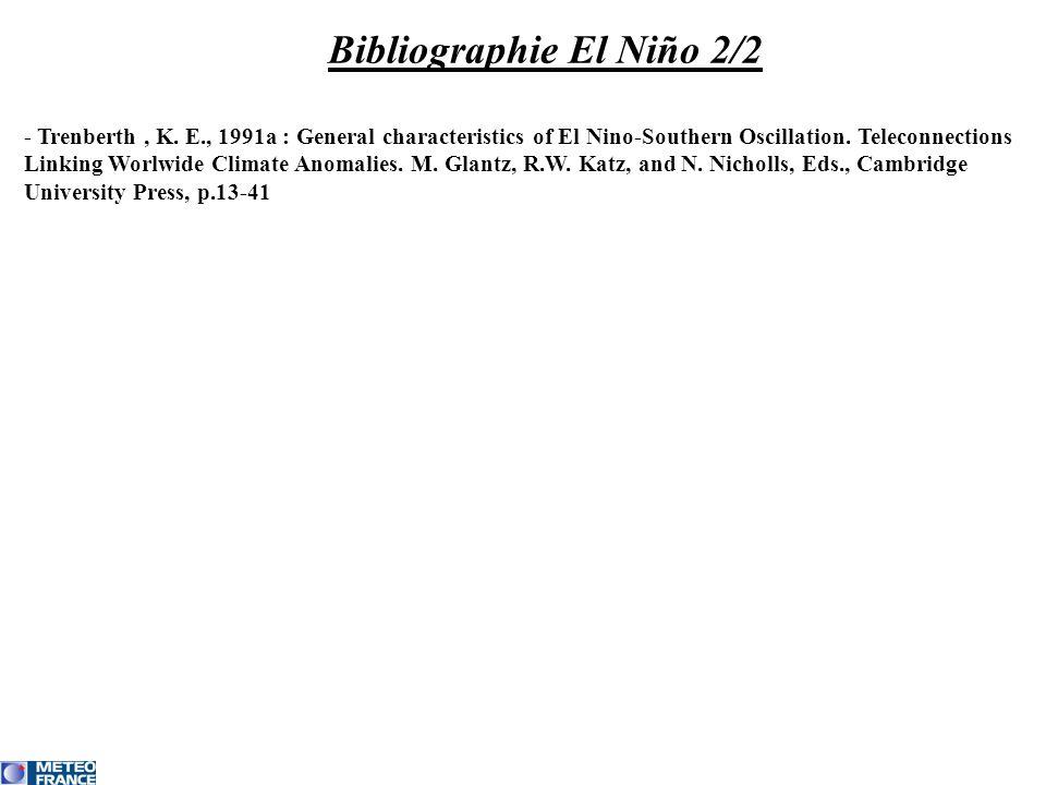 Bibliographie El Niño 2/2